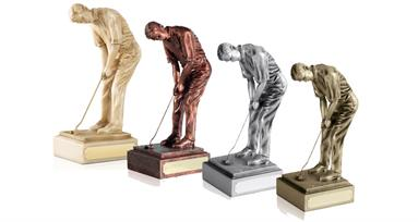 8 inch Golf Champion Figures - 4 Finishes