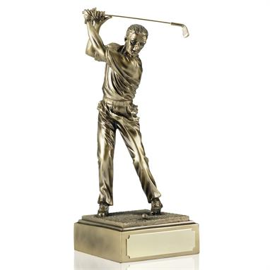 Light Bronze Finish Golf Figures - Available in 4 sizes RS34-37