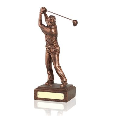 Old English Copper Finish Golf Figures - Available in 3 sizes CRS34-36