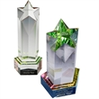 Optical Crystal Star Awards with Superb Light Refractions - Available in 3 sizes - AC85