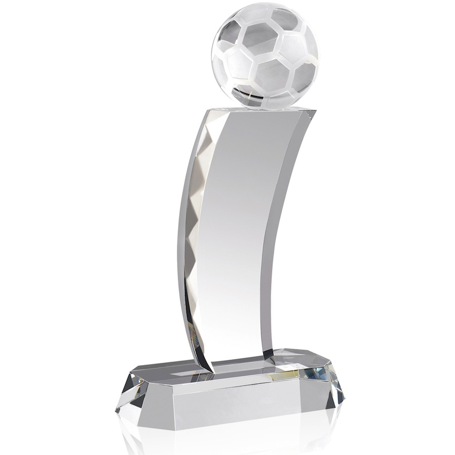 Optical Crystal Football Column Award - AC36