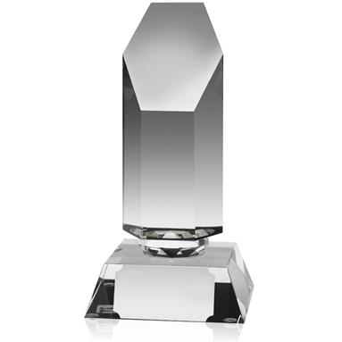 Optical Crystal Hexagon Award - AC57