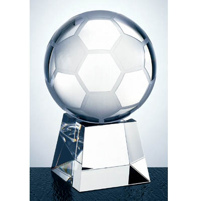 Optical Crystal Football with Clear Short Base