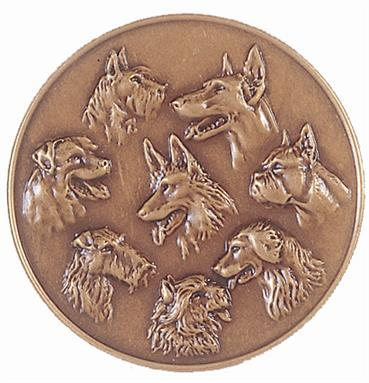 Faceted Dog Medal - 169
