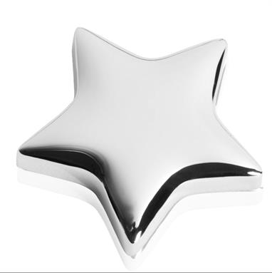 Highly Polished Nickel Finish Metal Memo Magnet - BG069