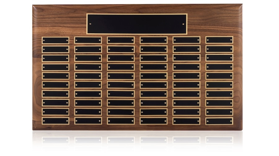 60 Entry Perpetual Wall Plaque - WP06