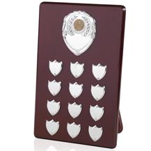 Perpetual Plaques for Centres - 13.25inch - 12 shield - PSV12