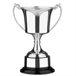 British Made Nickel Plated Studio Trophy Cup - Bakelite with Plinthband - 4 sizes - SNP7