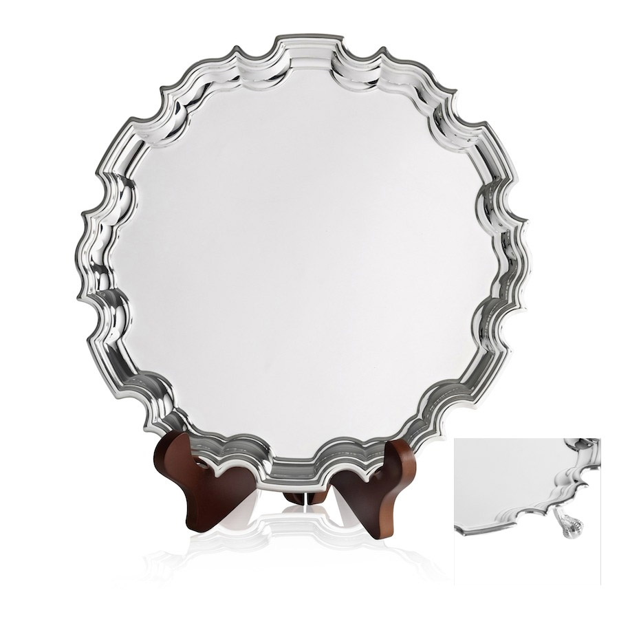 Silverplated Chippendale Trays with Feet - CN1506