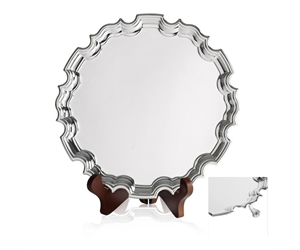 Silver Plated Chippendale Trays - With Feet