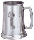 21 Key Badge - Pewter Tankard