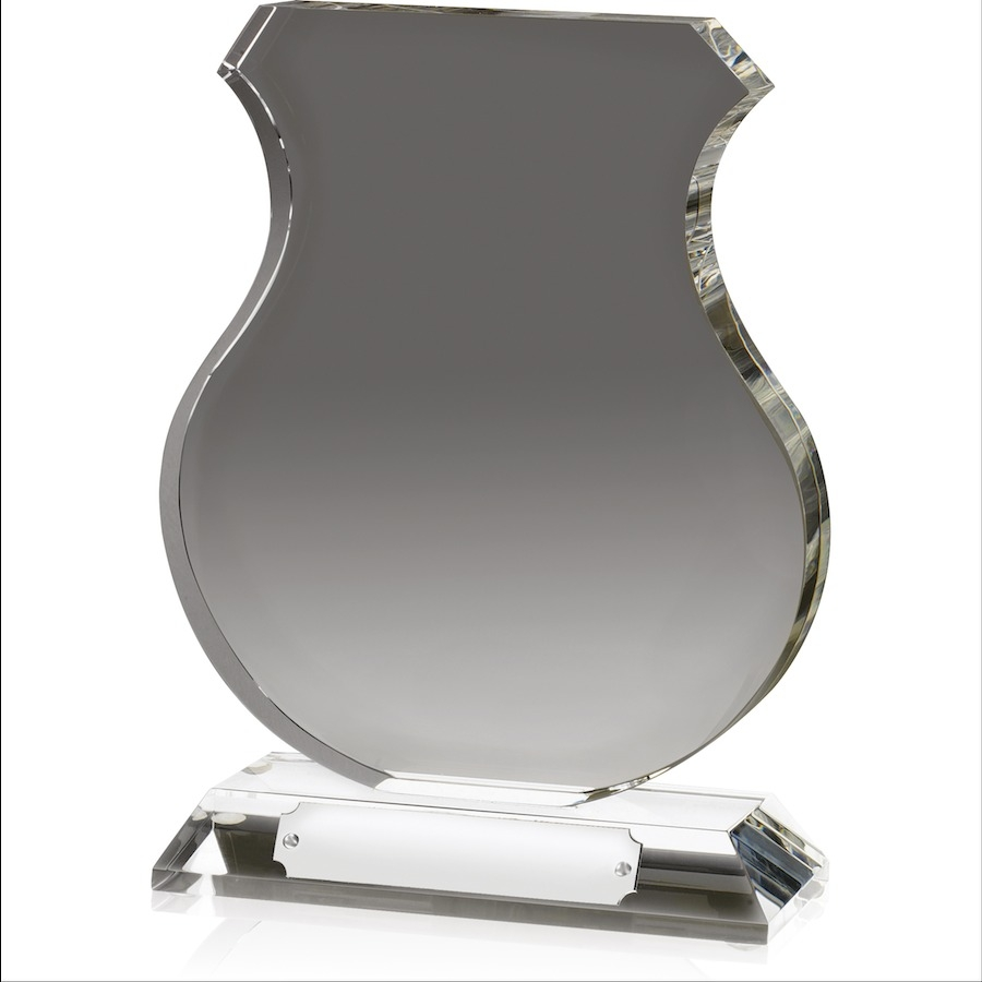Optical Crystal Shield Shape Award - AC63