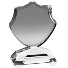 Optical Crystal Elegant Shield Award - AC64