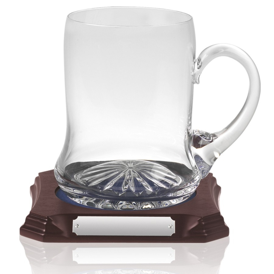 Plain Wide Bottom Crystal Tankard - 1 Pint - SCW31