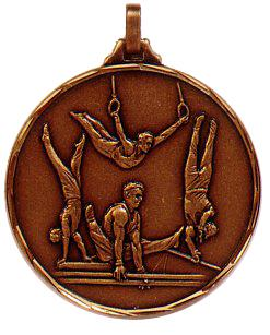 Faceted Gymnastics Medal - 413 - 52mm