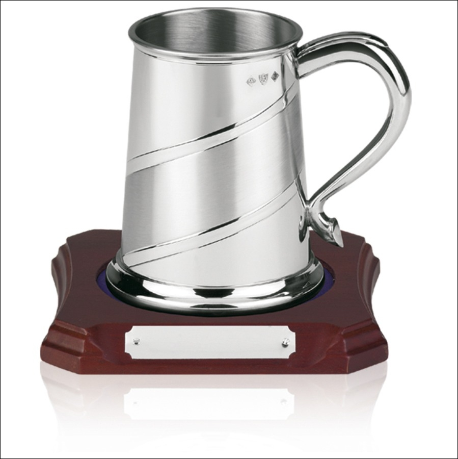1 pint Pewter Tankard with Satin Band - PT04