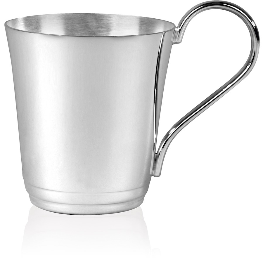 Plain Silverplated Childs Can - B116