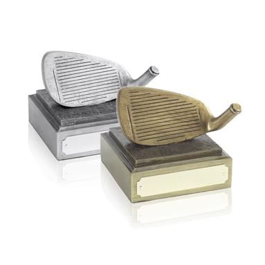 Nearest to the Pin Golf Club Heads Antique Gold and Silver - RS72 and SRS72