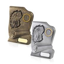 Antique Bronze and Silver Finish Resin Golf Awards - GX011 and GX012