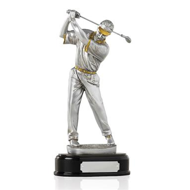 Silver and Gilt Effect Male Golfer - GX004