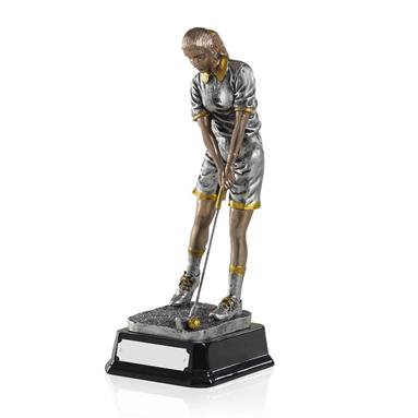 Female Golfer Resin - GX003