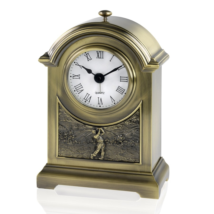 Antique Brass Finish Golf Clock - JG003