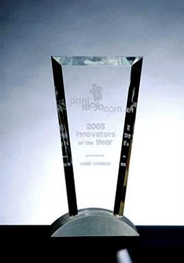 Optical Crystal Vision Award with Aluminium Base - C-M05