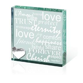 Love Messages Paperweight Token
