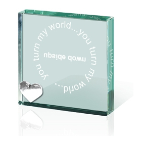 You turn my world Upside Down - Paperweight Token