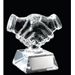 TB27-J500 Glass Handshake Paperweight Trophy