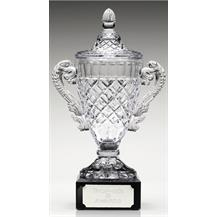 Merit Cup Sward - Cut Optical Crystal on Base