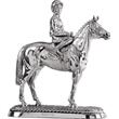 Sterling Silver 'Horse and Jockey' Trophy