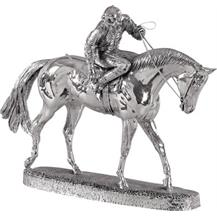 Sterling Silver 'Horse and Jockey - On Parade' Trophy