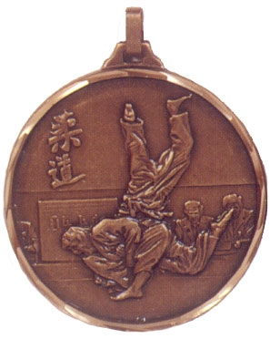 Faceted Judo Medal