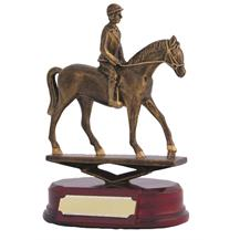 Resin Horse Rider Trophy