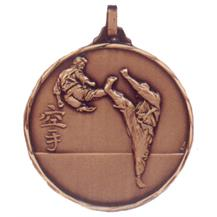 Faceted Karate Medal