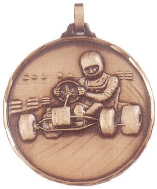 Faceted Karting Medal