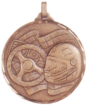 Faceted Motor Sports Medal
