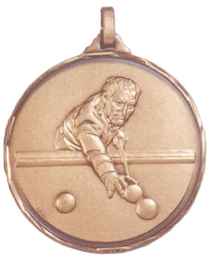 Faceted Cue Sports Medal