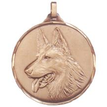 Faceted German Shepherd Medal