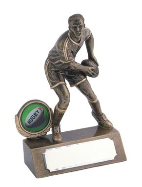Beautiful Resin Mini Male Rugby Trophy