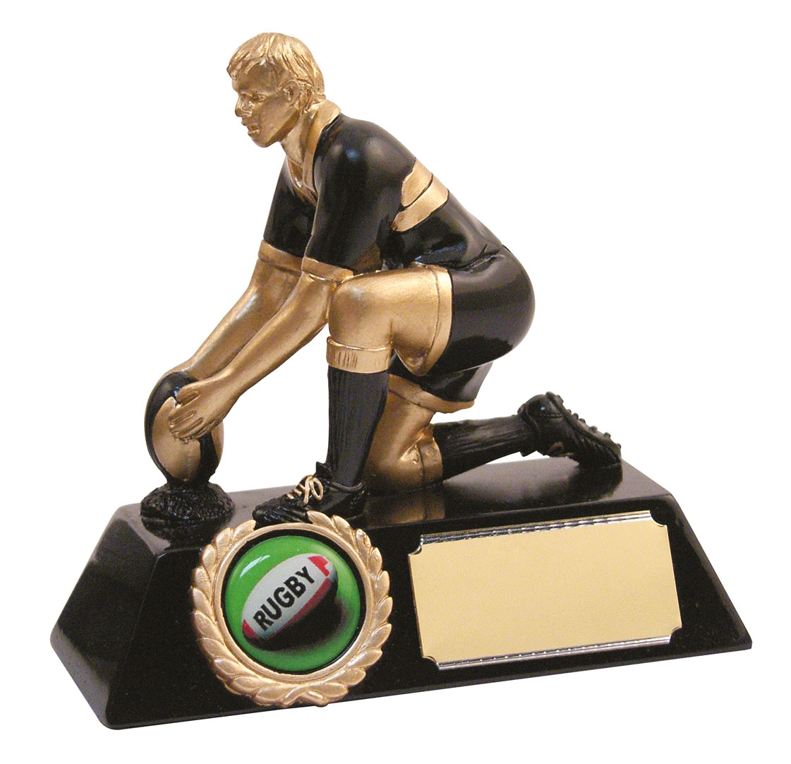 Classic Resin Rugby Kicker Trophy