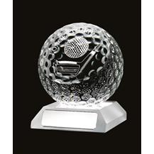 Beautiful Glass Golf 'Longest Drive' Ball Trophy