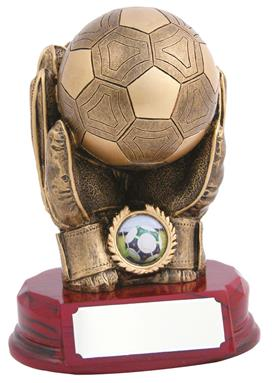 Beautiful Resin Football Goalkeeper Trophy