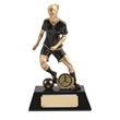 Superb Resin Female Football Figure Trophy