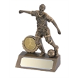 Beautiful Resin Mini Female Football Figure Trophy