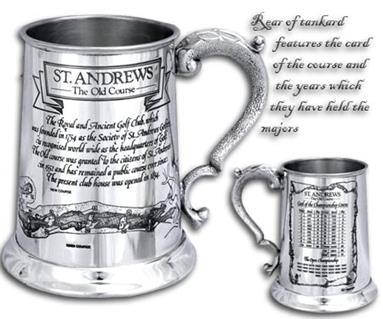 Pewter 'Golf Course' Tankard - 'St.Andrews'