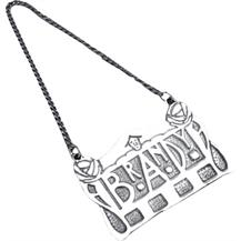 Charles Rennie Mackintosh Pewter Brandy Tag
