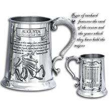 Pewter 'Golf Course' Tankard - 'Augusta'