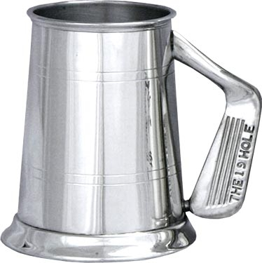 Pewter Golf Tankard - 'The 19th Hole'